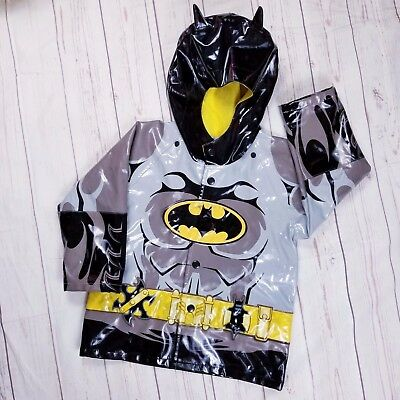 Western Chief Toddler size T3 Batman raincoat flashing light built in logo