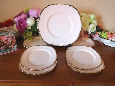 ROYAL VALE CHINA Cake/Sandwich Plate Pale Pink Tea Set