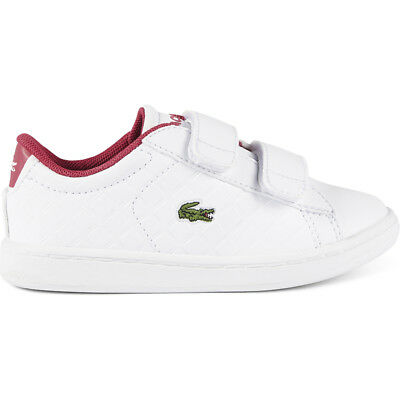 Lacoste Carnaby Evo 417 1 White/Pink Synthetic Baby Trainers