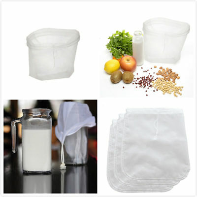 Reusable Nut Almond Milk Strainer Bag Tea Coffee juices Filter Cheese Mesh Cloth