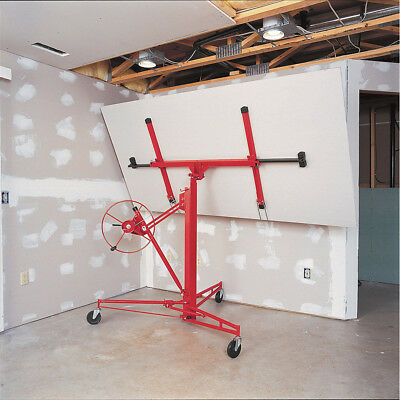 Heavy Duty 11FT Drywall Hoist Caster Plaster Board Panel Sheet Lift Lifter Jack