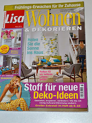 lisa wohnen und dekorieren eur 1 20 picclick de. Black Bedroom Furniture Sets. Home Design Ideas