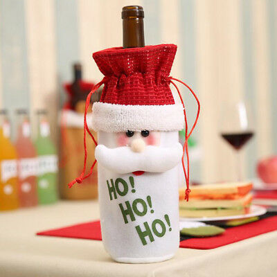 Cute Christmas Wine Gift Bags Bottle Holder Cover Xmas Home Ornament