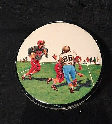 VINTAGE BUTTER CRUNCH TIN E Cherry & Sons - FOOTBALL GRAPHICS