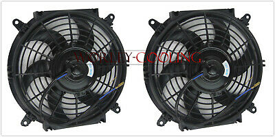 Universal Two 10 inch 12V volt Electric Cooling Fan Thermo Fan + Mounting kits