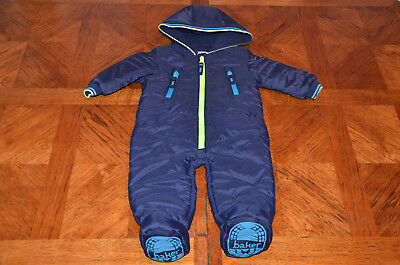 Ted Baker Baby Boys Dark Blue Snowsuit All in one 6-9 Months  VGC