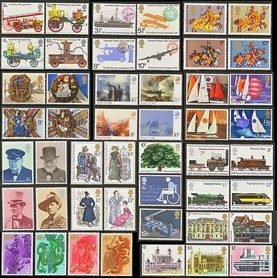 GB Stamps 1974-1975 – 14 Used Commemorative Sets (48 Stamps)