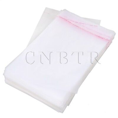 200x Plastic Seal Packaging Bag with Self Adhesive Strip 24x16cm S Size