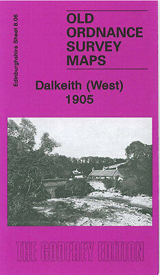 Old Ordnance Survey Map Dalkeith West 1905 Elginhaugh Melville Castle Ironmill