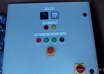 Mono Muncher PLC3 Control Panel 5.5Kw Reversing Starter PLC Overload Protection