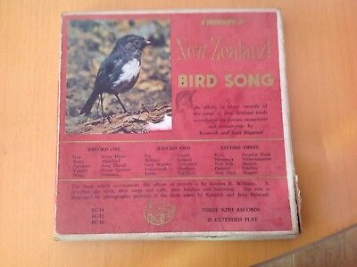 Extremely Rare complete Treasury Of New Zealand Bird Song Recordings Records vgc