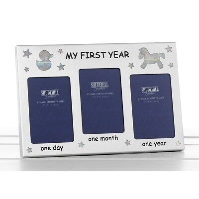 First Year Photo Frame Baby Boy Girl Newborn Christening Gifts Present Keepsake