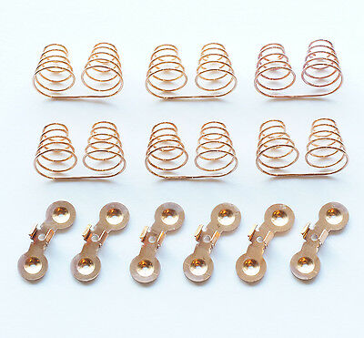 6x Beryllium Copper Spring Coil and 6x Contact For Dual 18650 Battery Contact