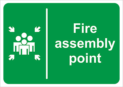 Fire Assembly Point Sign -  A5/a4/a3 Sticker/foamex Fire/emergency Safety Signs
