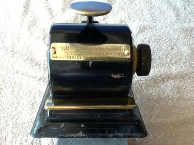 Antique Protectograph-Model H Check Writer ( Working )