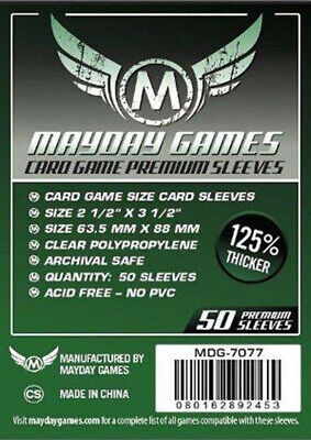 Mayday Card Game Sleeves (63.5x88mm)-50 Premium