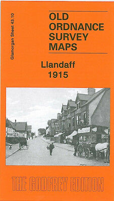 Old Ordnance Survey Map Llandaff 1915 Cardiff Canton Windway Road Romilly Road