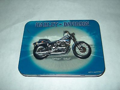 Harley Davidson Springer Softail Playing Card Set In Tin ** Used**