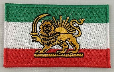 Iran Lion Flag Patch Embroidered Iron On Badge Applique Iranian