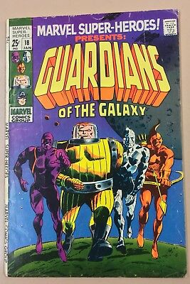 Marvel Super-Heroes 18 (1969, Marvel) 1st App Guardians of the Galaxy