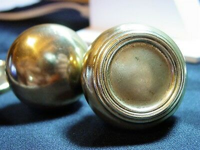 Antique Vintage Brass Door Knobs (2)