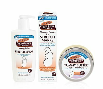 Palmer's Cocoa Butter MASSAGE CREAM, LOTION & TUMMY BUTTER for Strech Marks