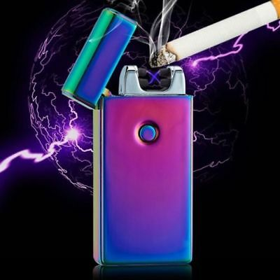 Lighter Rechargeable Plasma Windproof USB Electric Flameless Dual Arc