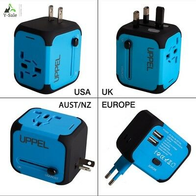 Travel USB Uppel Dual USB All-in-one Worldwide Travel Chargers Adapters for US E