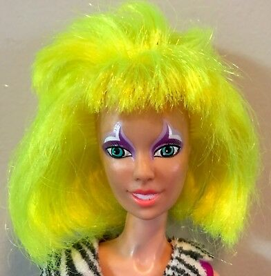 "MISFITS! Vtg 1985 Hasbro 12"" PIZZAZZ Doll DRESS 1980s JEM & the Holograms EUC OG"