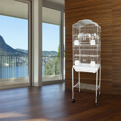 NEW Large Tall Canary Parakeet Cockatiel LoveBird Finch Bird Cage Stand WTE 176