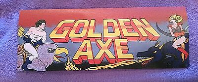 Golden Axe arcade marquee sticker. 3.25 x 9. (Buy any 3 stickers, GET ONE FREE!)