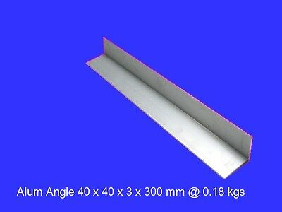 Aluminium Angle 40 x 40 x 3 x 300 mm ( 6060 T5 )-Model Building-Steam-OG