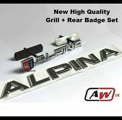 Alpina Grill + Rear Set Badge BMW Car Trunk Emblem metal M Tec Tech M3 M5 M6 23s
