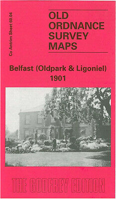 Old Ordnance Survey Map Belfast Oldpark & Ligoniel 1901 St Marks Church