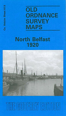 Old Ordnance Survey Map North Belfast 1920 Clifton Park Avenue Albert Quay