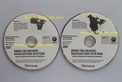 BMW Update Road Map North America DVD Professional 2015 Navigation DVD Maps