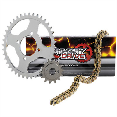 Primary Drive Steel Kit & Gold X-Ring Chain HONDA CR125R 2002