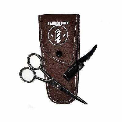 Beard & Moustache grooming kit - high quality sharp Moustache Scissors and comb