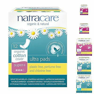 Natracare Pads VARIOUS SIZES Organic Chlorine Plastic Free Eco Friendly Safe