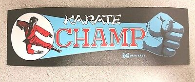 Karate Champ marquee sticker. 3 x 9.5. (Buy any 3 of my stickers, GET ONE FREE!)