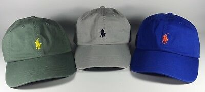 New Original Polo Ralph Lauren Cotton Chino Sports Baseball Cap Hat CLEARANCE