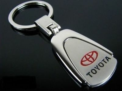 Toyota Metal Chrome Embossed Stainless Steel Key Ring Keyring Camry  Corolla