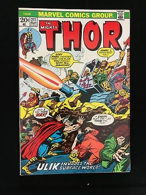 Thor #211 Vf- High Grade! Marvel Comics Bronze Age Mighty Thor!