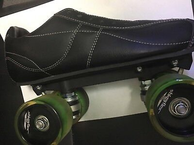 CRAZY V12 Roller Skates - WITH GREEN STICKFLEX WHEELS