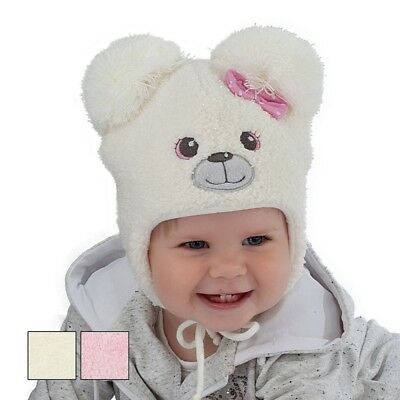 Winter baby hat children hat little girl Bear size 44, 46, 48, 6m-18 months