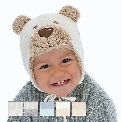 Winter baby hat children warm hat little boy Bear size 40, 42, 44, 3-9 months