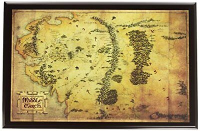 noble collection nn1312 lord of the rings middle earth map of