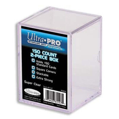 Ultra Pro 2-Piece Storage Box - for 150 Cards - Clear