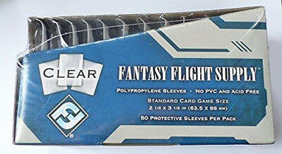 500 Fantasy Flight Games Standard Card Game Size Sleeves Standard 10 Packs + Box