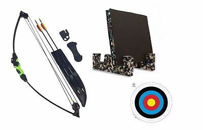 Garden Archery Outdoor Wildcat Kids Childrens Compound Bow and Arrow Set Target